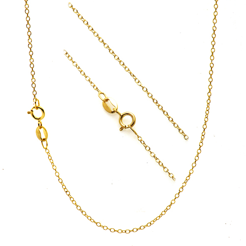 Thin Gold Chain Bracelet: 18K Gold Over Silver 1mm Thin Cable Chain Necklace