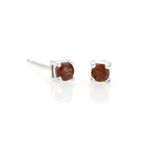 sterling silver 3mm small genuine garnet stud earrings ebay