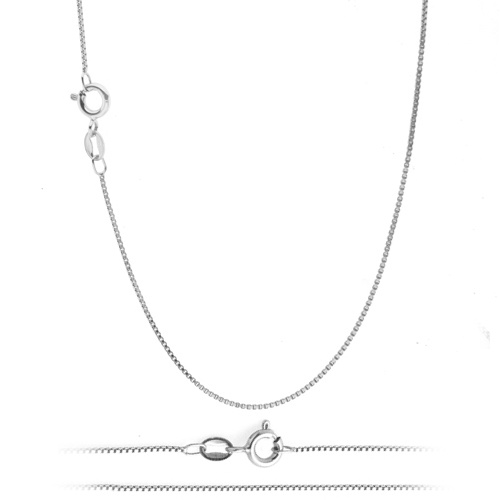 White gold chain and pendant