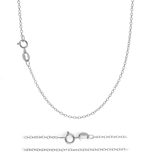 steel stainless chain cable necklace inch flat