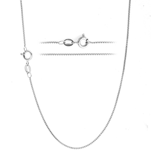 Light Rope Chain Necklace Rhodium Over Sterling Silver Made in the USA